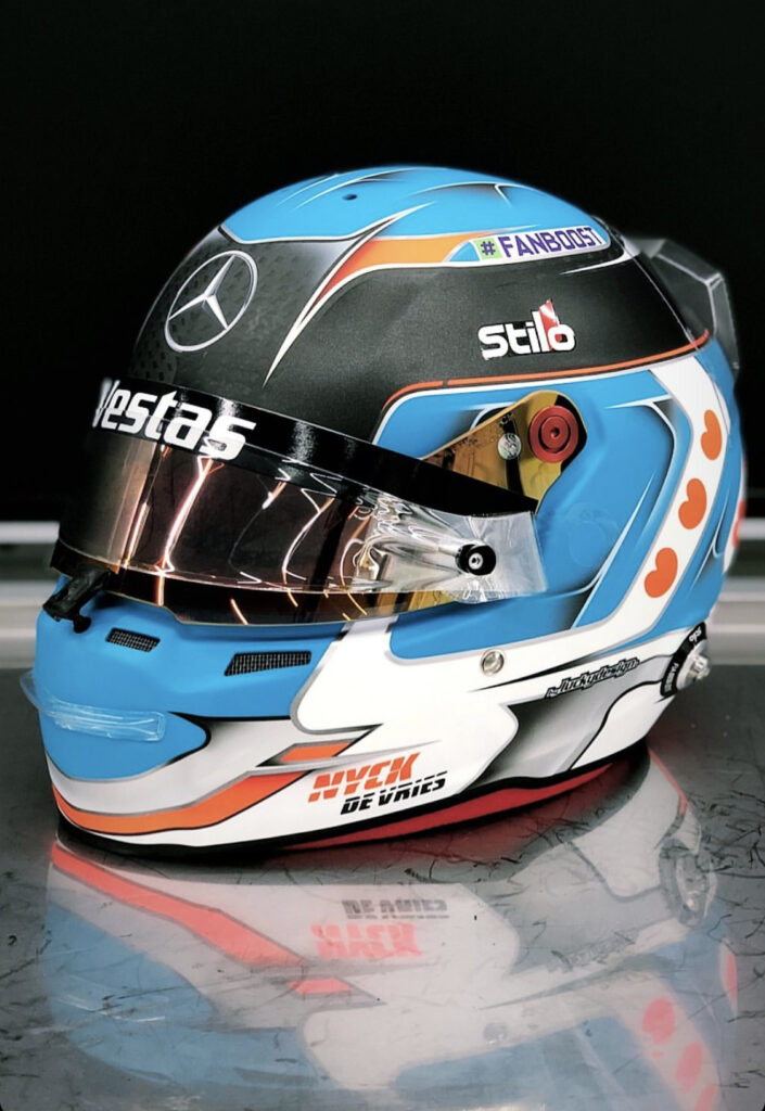 Formula E helmet design