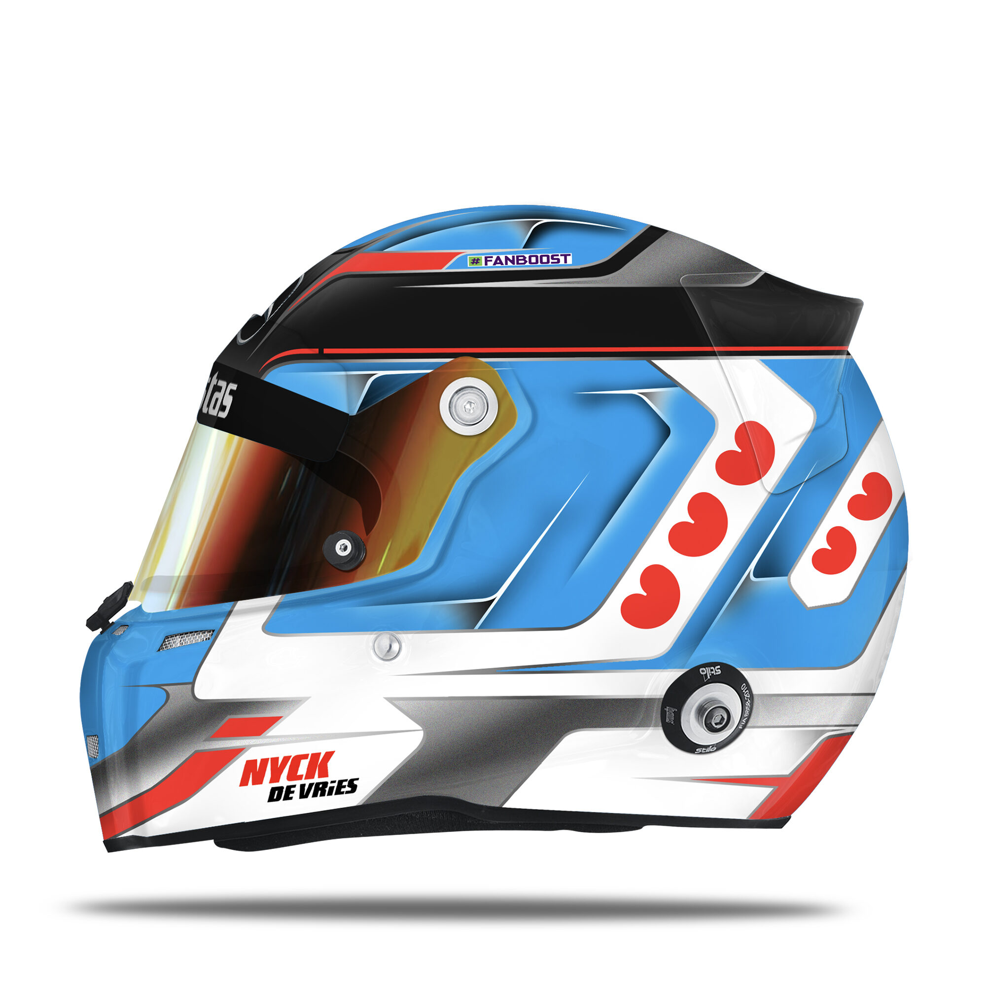 Nyck De Vries helmet design